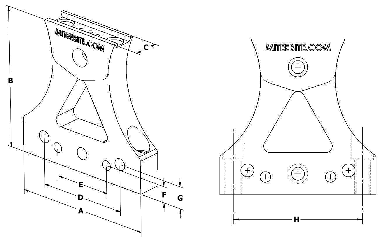 Line Drawing Website : Tall vise jaw system mitee bite products llc